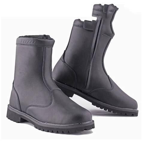 short motorbike boots black short custom motorcycle boot leather waterproof