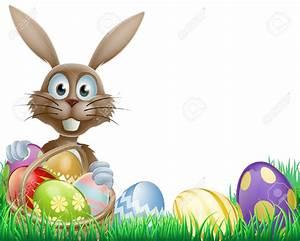 Easter Bunny Border Clip Art | www.pixshark.com - Images ...