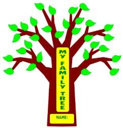 School Project Family Tree Template