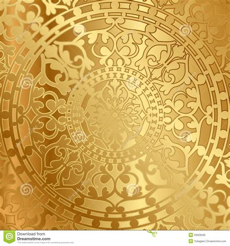 gold background  oriental decoration stock vector
