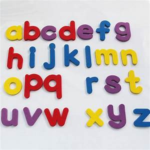 A z letters eva fridge magnets baby educational set for Letter fridge magnets game