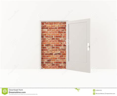 open brick wall door and brick wall stock photography image 24064152