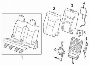 Gmc Acadia Seat Belt Trim Bezel  Upper   Seat Back