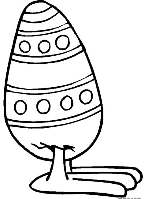 printable easter egg  feet coloring page