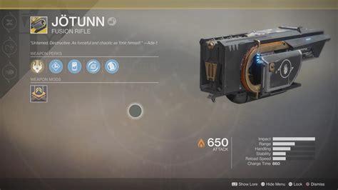 destiny jotunn fusion raid rifle exotic weapons exotics crown sorrow jotun gear salvation garden boss opulence ten fight players bosses