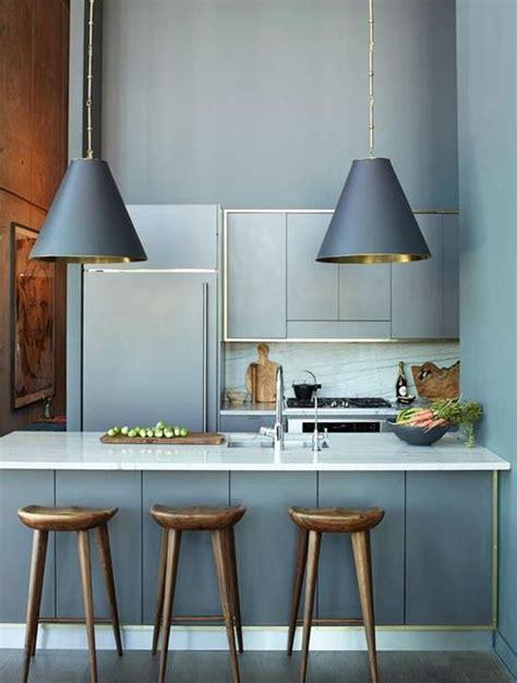 cuisine gris bleu cuisine bleu 25 idées déco cuisine bleue