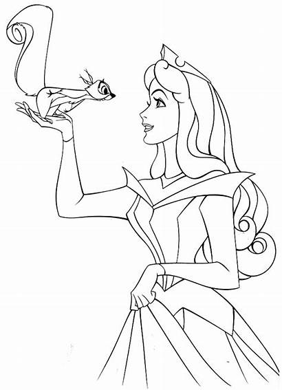 Sleeping Coloring Beauty Pages Princess Disney