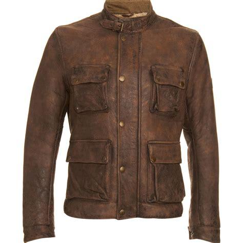 jacket moto belstaff shearling moto jacket in brown for men lyst