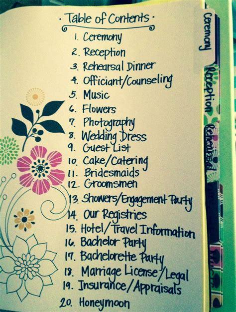 wedding planning binder best photos Binder organization