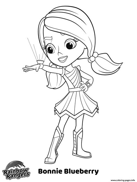 bonnie blueberry rainbow rangers coloring pages printable