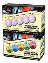globe patio lights multi color 22 strand by prime