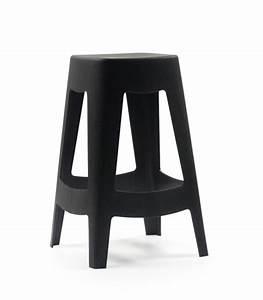 Bar Exterieur Design : tabouret de bar ext rieur design empilable en plastique noir wadiga ~ Melissatoandfro.com Idées de Décoration
