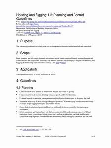 Hoisting Guide Lift Plan