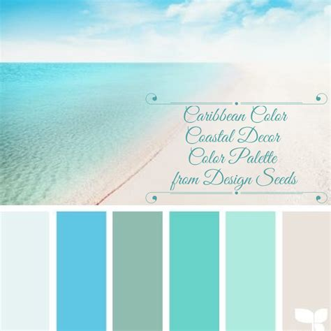 coastal decor color palette caribbean color from