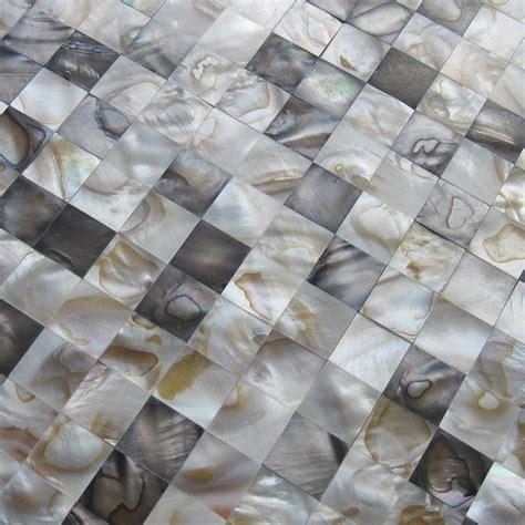 mother  pearl tiles wall kitchen backsplash square