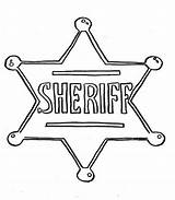 Sheriff Badge Coloring Police Printable Template Clipart Sheet Hat Sketch Getcolorings sketch template