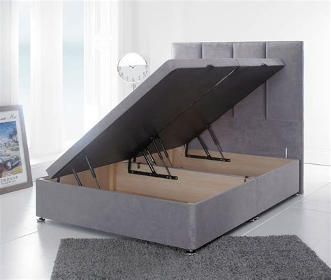 Ottoman Base Bed by Giltedge Beds 3ft Single Ottoman Base Velvet Fabric