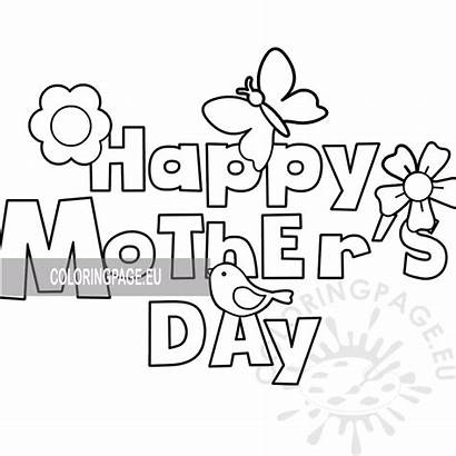 Coloring Card Mothers Happy Mother