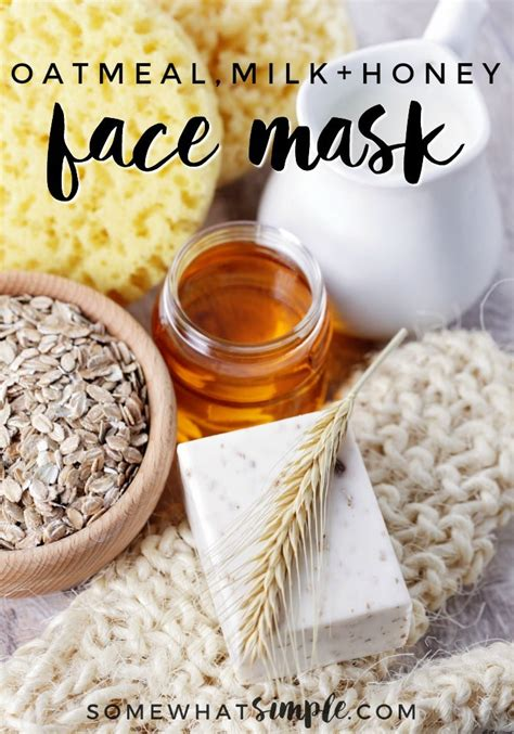 easy diy honey oatmeal face mask  simple