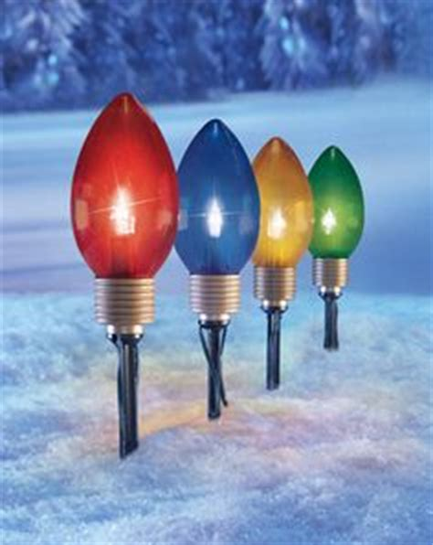 tall christmas light stakes bulb outdoor lights ornaments outdoor