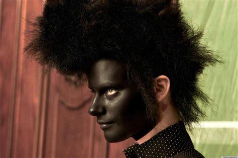 Vogue Netherlands Blackface Shoot Ruffles Feathers (photo