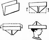 Paper Hat Boat Crafts Tearing Chestofbooks sketch template