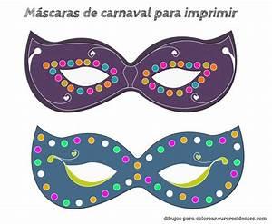 Carnival mask for print. Máscaras de carnaval para ...