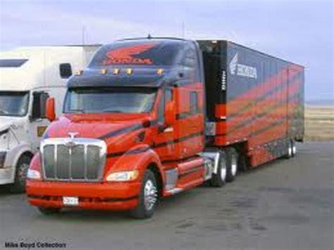 Peterbilt Custom Built Transporter. Orange & Dark