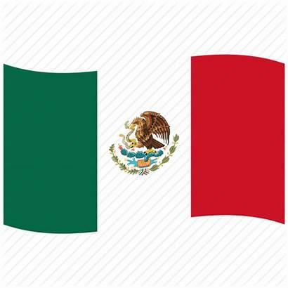Flag Mexico Icon Waving Mexican Mx Flags