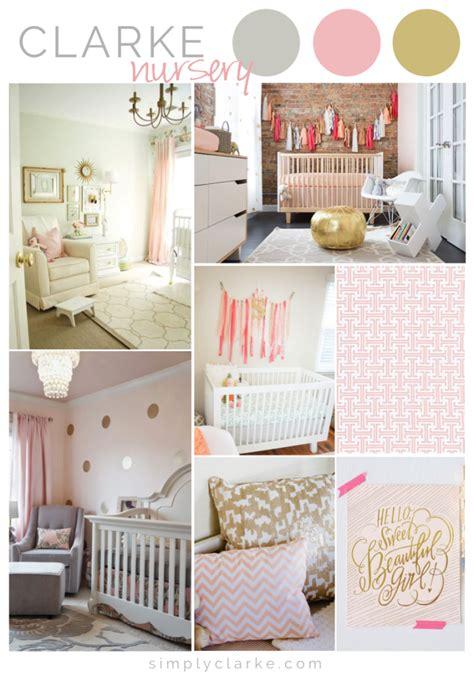 Baby Girl Nursery Inspiration  Simply Clarke