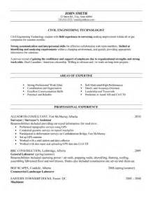 civil engineering resumes entry level civil engineer resume sle template