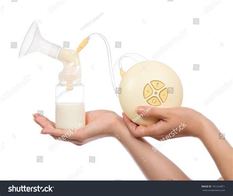 Electric Breast Pump Increase Milk Supply Stock Photo