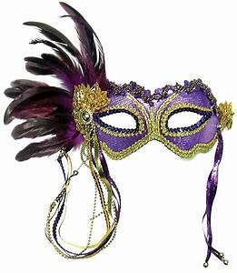 Fancy Dress Factory.... em322 - Purple masquerade mask EM322