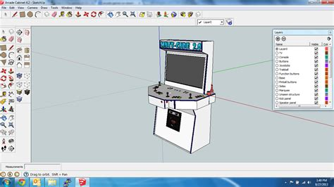 mame cabinet plans 4 player building the 7e arcade hd prototype mame cabinet part 1
