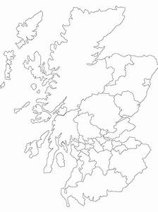 Printable Outline Map Of Scotland And Its Districts
