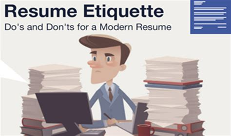 Resume Etiquette by Alizul Infographic Resume Etiquette Do S Don Ts For