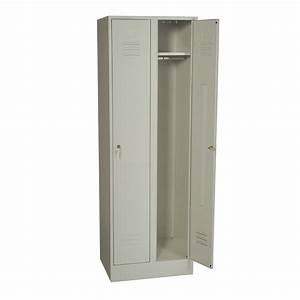 Armoire à Balai Leroy Merlin : armoire vestiaire en m tal double jds 180x60x49cm ~ Dailycaller-alerts.com Idées de Décoration
