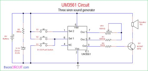 Three Siren Sound Generator Circuit Using