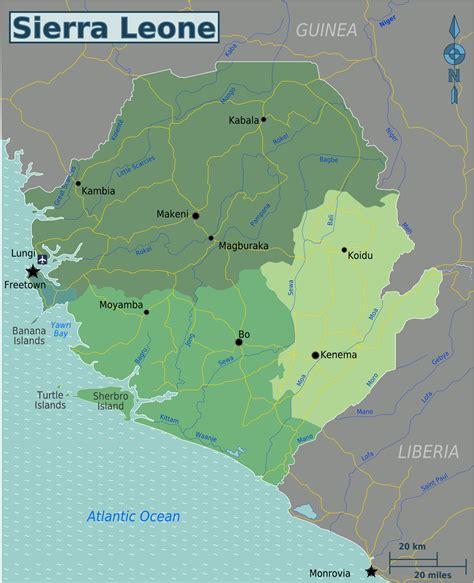 Ģeogrāfiskā karte - Sjerraleone - 2,000 x 2,464 Pikselis ...