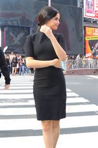 Selena Gomez in Black Dress out in NYC