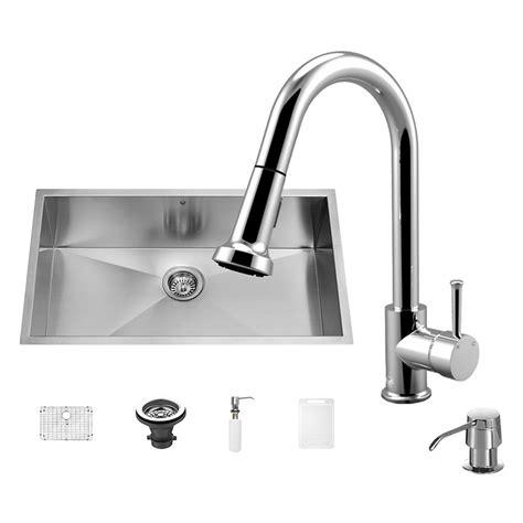 all in one sink vigo all in one undermount 30 in single basin kitchen sink