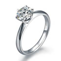 solitaire cut engagement rings engagement ring solitaire ring 6 prongs 14k white gold 2291166 weddbook