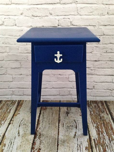 nautical end table nautical beach end table refinished furniture
