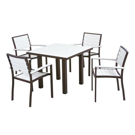 polywood textured bronze 5 patio dining set