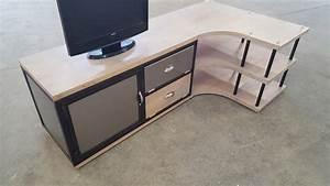 Meuble D Angle Pour Tv : meuble tv angle meuble tv trendsetter ~ Teatrodelosmanantiales.com Idées de Décoration