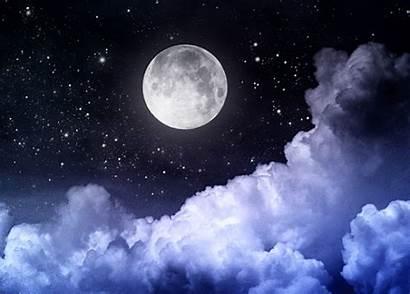 Moon Night Moonlight Clouds Animated Heart Dark