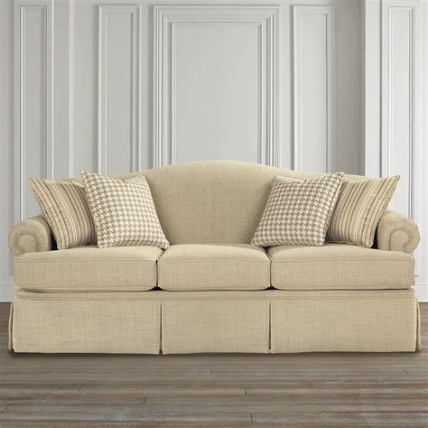 Camel Back Loveseat by Camel Back Sofa Boxed Seats Boxed Skirt