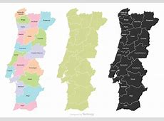 Portugal Map With Regions Download Free Vector Art