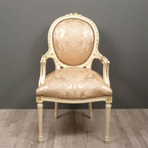 chaises fauteuils medallion armchair louis xvi baroque chairs