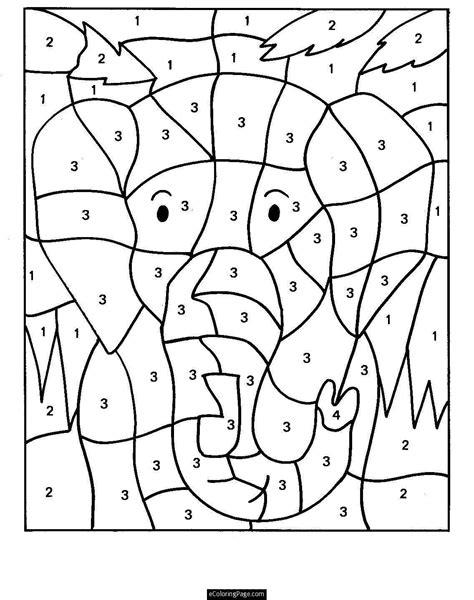 Dibujos para Colorear pintar e imprimir Numero para